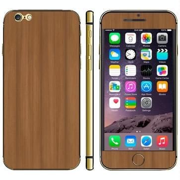iPhone 6 Plus & 6S Plus Hout patroon beschermende stickers (midden bruin)
