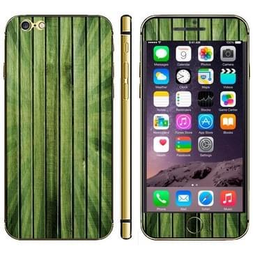 iPhone 6 Plus & 6S Plus Hout patroon beschermende stickers (groen)