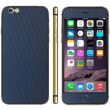 iPhone 6 Plus & 6S Plus unieke Koolstofvezel structuur beschermende stickers (donker blauw)