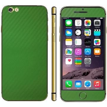 iPhone 6 Plus & 6S Plus unieke Koolstofvezel structuur beschermende stickers (groen)