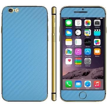 iPhone 6 Plus & 6S Plus unieke Koolstofvezel structuur beschermende stickers (blauw)