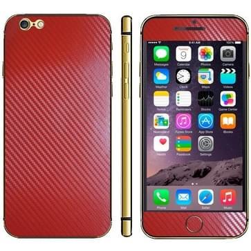 iPhone 6 Plus & 6S Plus unieke Koolstofvezel structuur beschermende stickers (rood)