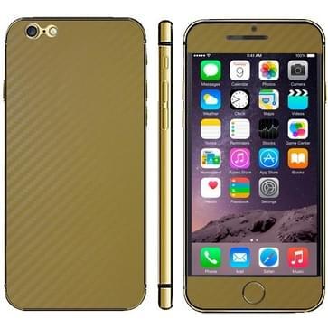 iPhone 6 Plus & 6S Plus unieke Koolstofvezel structuur beschermende stickers (geel)