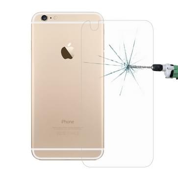10 stuks voor iPhone 6 Plus de 6s Plus de 0,26 mm 9H & oppervlakte hardheid 2.5D explosieveilige terug getemperd glas Film