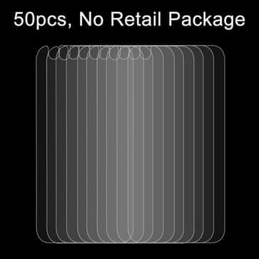 50 stuks voor iPhone 6 Plus de 6s Plus de 0,26 mm 9H & oppervlakte hardheid 2.5D explosieveilige terug getemperd glas Film, No retailpakket