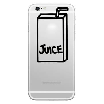 Hoed-Prins sap vak patroon verwisselbare decoratieve Skin Sticker voor iPhone 8 & 8 Plus, iPhone 7 & 7 Plus, iPhone 6s & 6s Plus, iPhone 6 & 6 Plus