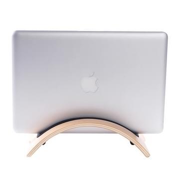 Superior gebogen houten Stand houder voor Tablet PC & Laptop(koffie kleur)