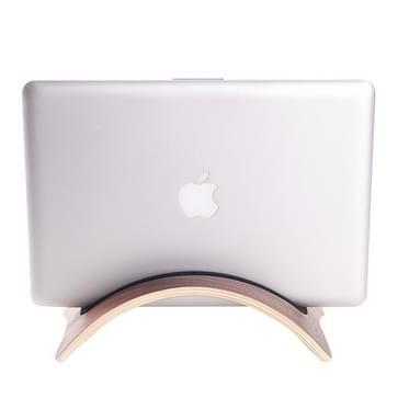 Superior gebogen houten Stand houder voor Tablet PC & Laptop(bruin)