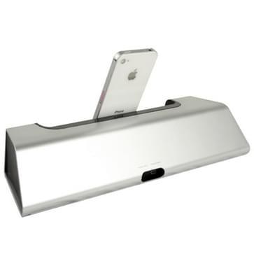4 in 1 (hoge kwaliteit laad basis + luidspreker + stand + wekker) voor nieuwe ipad (ipad 3) / ipad 2 / ipad iphone 4 & 4s / ipod touch (zilver)