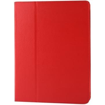 Hoge kwaliteit Litchi structuur PU leren flip hoesje met slaap / ontwaak functie voor iPad 2 / iPad 3 / iPad 4 (rood)