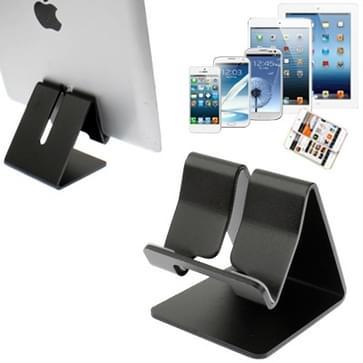 Aluminium Stand Desktop houder voor iPad, iPhone, Galaxy, Huawei, Xiaomi, HTC, Sony, en andere mobiele telefoons of Tablets(Black)