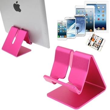 Aluminium Stand Desktop houder voor iPad, iPhone, Galaxy, Huawei, Xiaomi, HTC, Sony, en andere mobiele telefoons of Tablets(Pink)