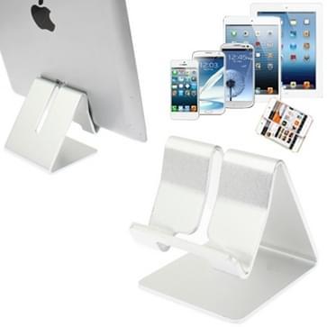 Aluminium Stand Desktop houder voor iPad, iPhone, Galaxy, Huawei, Xiaomi, HTC, Sony, en andere mobiele telefoons of Tablets(Silver)