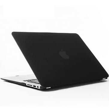 MacBook Air 13.3 inch Kristal structuur hard Kunststof Hoesje / Case (zwart)
