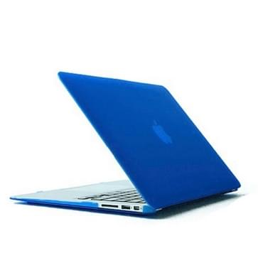 MacBook Air 13.3 inch Kristal structuur hard Kunststof Hoesje / Case (blauw)