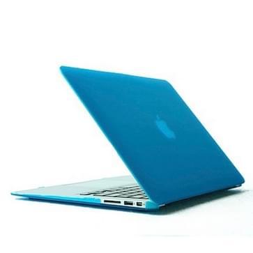 MacBook Air 13.3 inch Kristal structuur hard Kunststof Hoesje / Case (baby blauw)