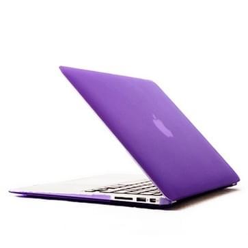 MacBook Air 11.6 inch Kristal structuur hard Kunststof Hoesje / Case (paars)