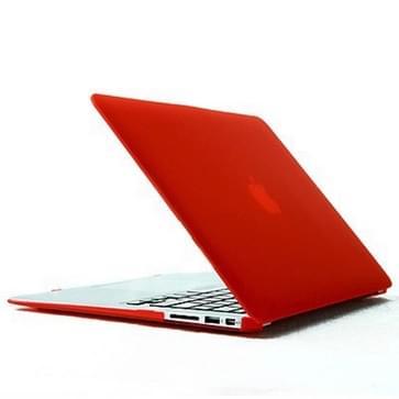MacBook Air 11.6 inch Kristal structuur hard Kunststof Hoesje / Case (rood)