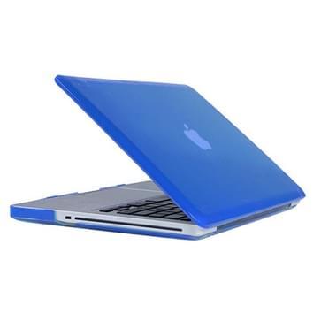 MacBook Pro 13.3 inch Kristal structuur hard Kunststof Hoesje / Case (blauw)