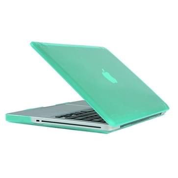 MacBook Pro 13.3 inch Kristal structuur hard Kunststof Hoesje / Case (groen)