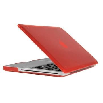 MacBook Pro 13.3 inch Kristal structuur hard Kunststof Hoesje / Case (rood)