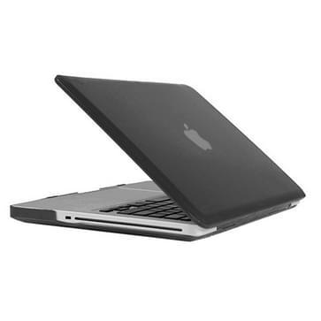 MacBook Pro 15.4 inch Kristal structuur hard Kunststof Hoesje / Case (zwart)