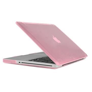 MacBook Pro 15.4 inch Kristal structuur hard Kunststof Hoesje / Case (roze)