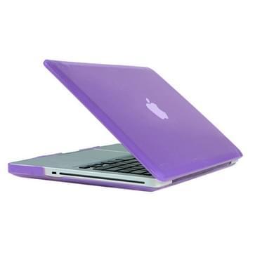 MacBook Pro 15.4 inch Kristal structuur hard Kunststof Hoesje / Case (paars)