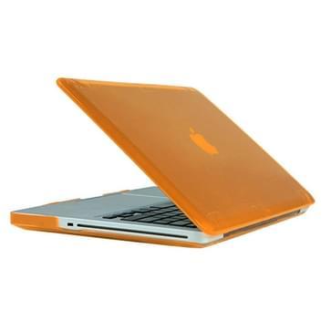 MacBook Pro 15.4 inch Kristal structuur hard Kunststof Hoesje / Case (Oranje)