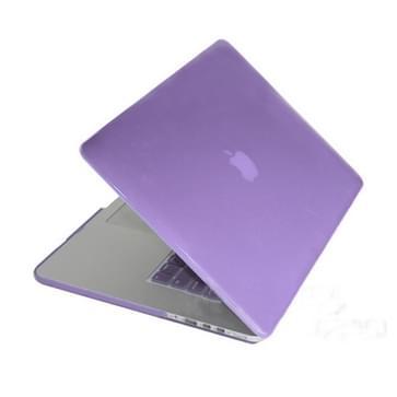 MacBook Pro Retina 13.3 inch Kristal structuur hard Kunststof Hoesje / Case (paars)