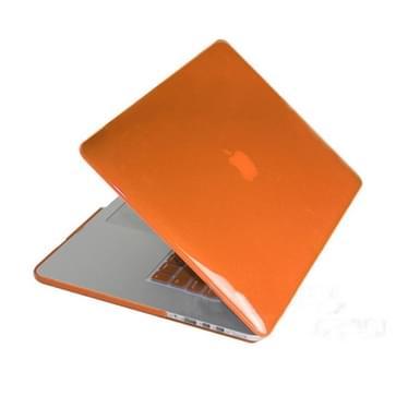MacBook Pro Retina 13.3 inch Kristal structuur hard Kunststof Hoesje / Case (Oranje)
