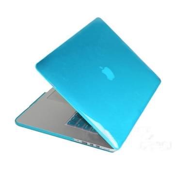 MacBook Pro Retina 13.3 inch Kristal structuur hard Kunststof Hoesje / Case (baby blauw)