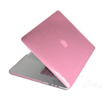 MacBook Pro Retina 15.4 inch Kristal structuur hard Kunststof Hoesje / Case (roze)