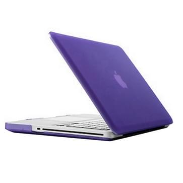MacBook Pro 13.3 inch Frosted structuur hard Kunststof Hoesje / Case (paars)