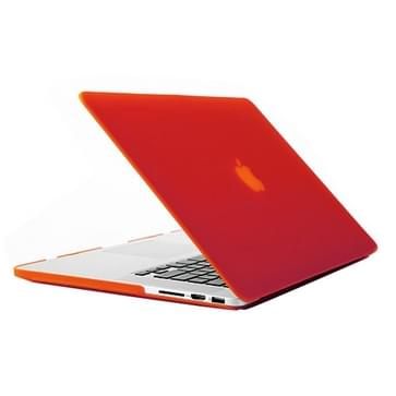 MacBook Pro Retina 13.3 inch Frosted structuur hard Kunststof Hoesje / Case (rood)