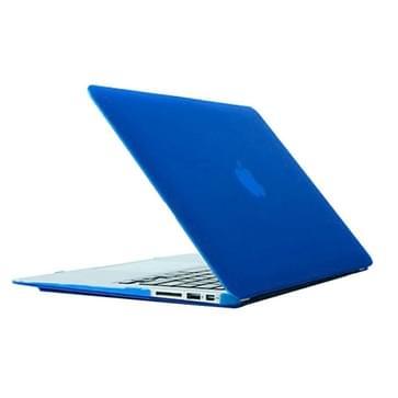 MacBook Air 13.3 inch Frosted structuur hard Kunststof Hoesje / Case (blauw)