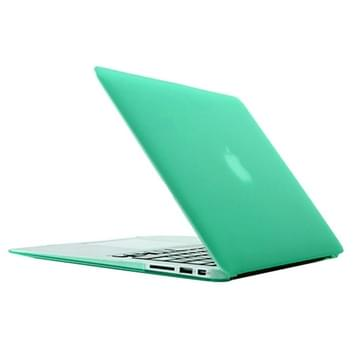 MacBook Air 13.3 inch Frosted structuur hard Kunststof Hoesje / Case (groen)