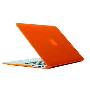 MacBook Air 13.3 inch Frosted structuur hard Kunststof Hoesje / Case (Oranje)
