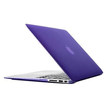 MacBook Air 11.6 inch Frosted structuur hard Kunststof Hoesje / Case (paars)