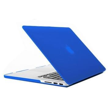 MacBook Pro Retina 15.4 inch Frosted structuur hard Kunststof Hoesje / Case (blauw)