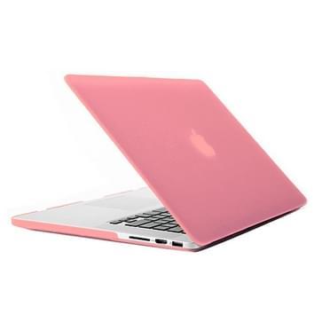 MacBook Pro Retina 15.4 inch Frosted structuur hard Kunststof Hoesje / Case (roze)