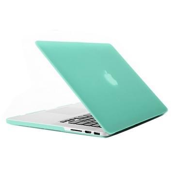 MacBook Pro Retina 15.4 inch Frosted structuur hard Kunststof Hoesje / Case (groen)