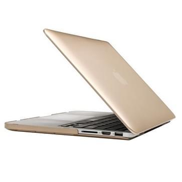 MacBook Pro Retina 15.4 inch Frosted structuur hard Kunststof Hoesje / Case (goudkleurig)