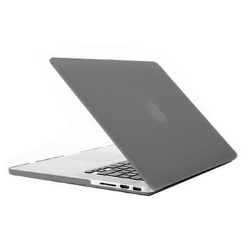 MacBook Pro Retina 15.4 inch Frosted structuur hard Kunststof Hoesje / Case (grijs)