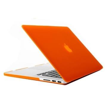 MacBook Pro Retina 15.4 inch Frosted structuur hard Kunststof Hoesje / Case (Oranje)