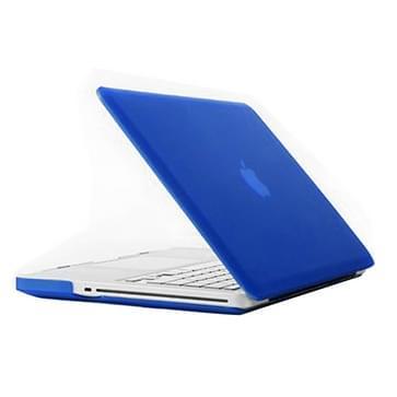 MacBook Pro 15.4 inch Frosted structuur hard Kunststof Hoesje / Case (blauw)