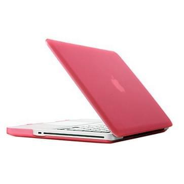MacBook Pro 15.4 inch Frosted structuur hard Kunststof Hoesje / Case (roze)