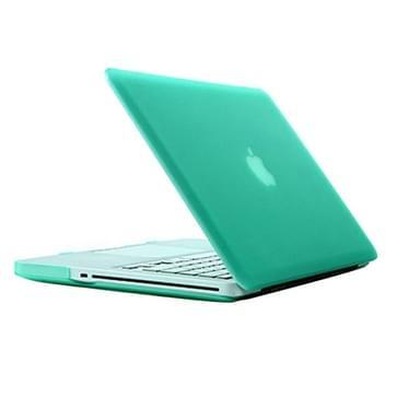 MacBook Pro 15.4 inch Frosted structuur hard Kunststof Hoesje / Case (groen)