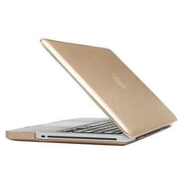 MacBook Pro 15.4 inch Frosted structuur hard Kunststof Hoesje / Case (Goudkleurig)