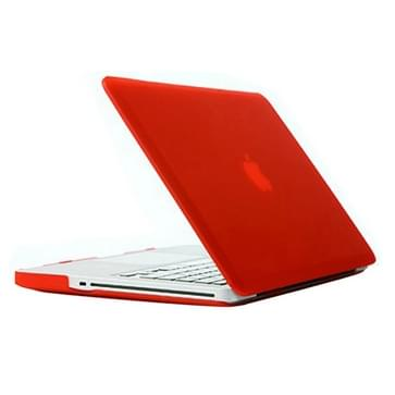 MacBook Pro 15.4 inch Frosted structuur hard Kunststof Hoesje / Case (rood)
